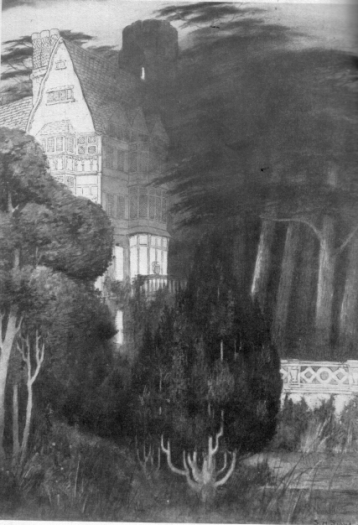 "Sidney Sime illustration from Lord Dunsany's ""Sword of Welleran"""