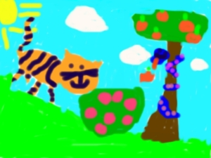 """Tiger Burning Bright"" by the Reverends daughter (age 4)"